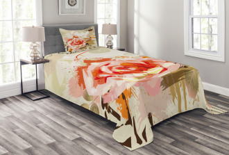 Artistic Abstract Grunge Bedspread Set