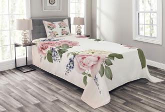 Springtime Bouquets Nature Bedspread Set