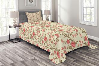 Rustic Floral Classical Bedspread Set