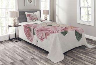 Old Roses Corsage Grunge Bedspread Set
