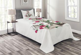 Romantic Sea Anchor Rope Bedspread Set