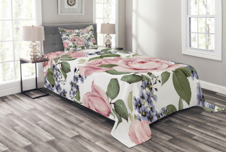 Flourishing Pink Flora Bedspread Set