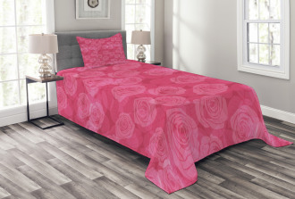 Shades of Pink Romantic Bedspread Set
