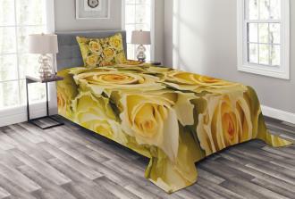 Yellow Bridal Flourish Bedspread Set