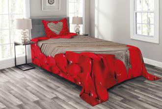 Vibrant Petals Heart Shape Bedspread Set
