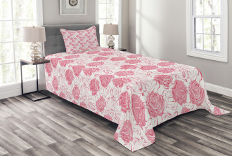 Girlish Meadow Floral Art Bedspread Set