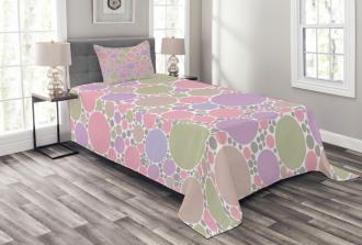 Geometric Polka Dots Bedspread Set
