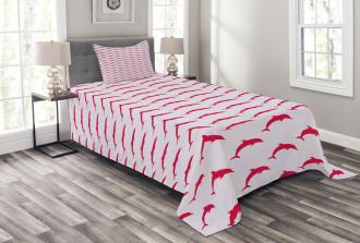 Marine Color Palette Bedspread Set