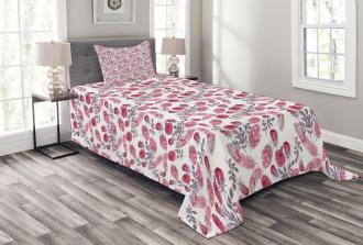 Romantic Retro Roses Bedspread Set