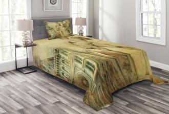 Florence Artistic Collage Bedspread Set