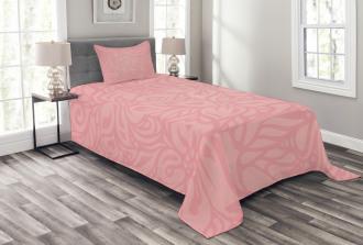 Floral Abstract Artwork Bedspread Set