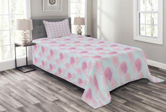 Rose Buds Soft Flowers Bedspread Set
