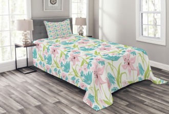 Botanical Springtime Bedspread Set