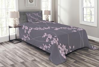 Asian Japanese Sakura Bedspread Set