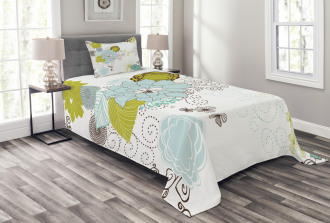Pastel Romantic Ornament Bedspread Set