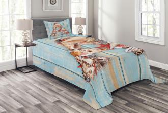 Seashell Wood Backdrop Bedspread Set