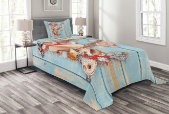 Coastal Soft Colored Bedspread Set