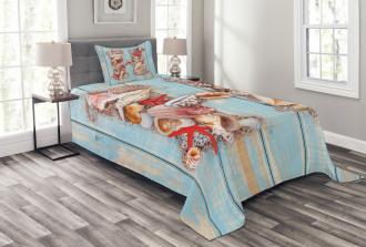 Seashells Starfishes Bedspread Set