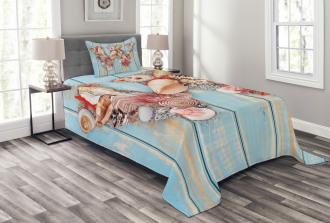 Oceanic Tropic Nature Bedspread Set