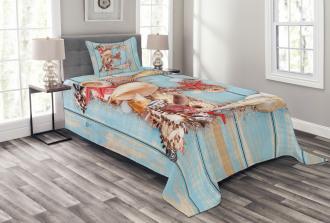 Underwater Stylized E Bedspread Set