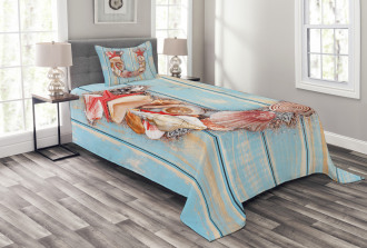 Underwater Coastal U Bedspread Set