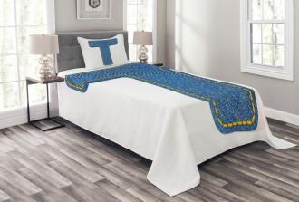 Blue Jean Texture T Bedspread Set