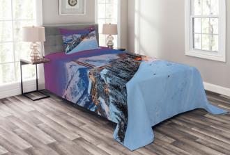 Majestic Sunrice Ski Bedspread Set