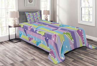 Sneakers Stripes Youth Bedspread Set