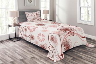 Flowers Bold Lines Bedspread Set