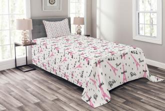 Je T'aime Romance Hearts Bedspread Set