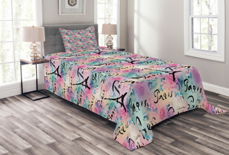 Rose Flowers Romantic Bedspread Set