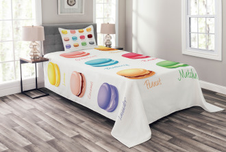 Colorful Macarons Bedspread Set