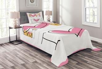 Childish Love Floral Bedspread Set