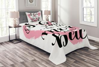 Watercolor Heart Bedspread Set