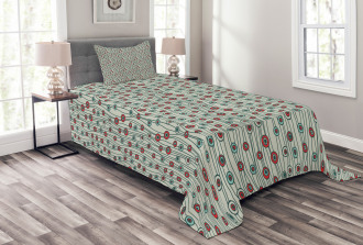 Thin Lines with Dots Bedspread Set