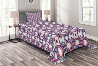 Hexagonal Squares Bedspread Set