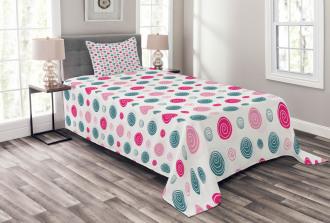 Cute Doodle Spirals Bedspread Set