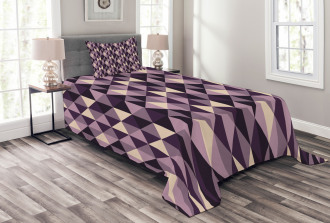 Abstract Style Triangles Bedspread Set