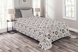 Circlular Doodles Bedspread Set