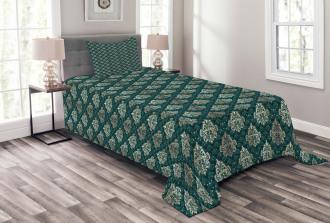 French Rococo Motifs Bedspread Set