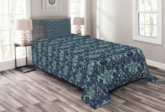 Complex Flower Patterns Bedspread Set