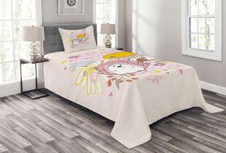 Stylish Background Bedspread Set