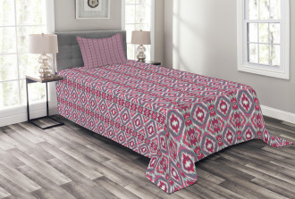 Checkered Mosaic Ethnic Bedspread Set