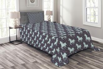 Galloping Unicorns Bedspread Set