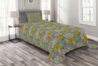 Surreal Floral Art Bedspread Set