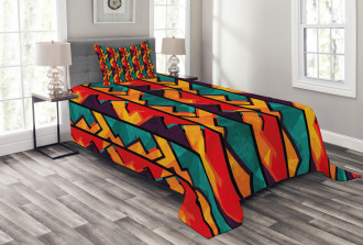 African Antique Mosaic Bedspread Set
