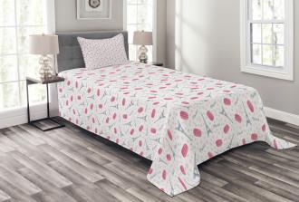 Tasty Retro Macaroons Bedspread Set