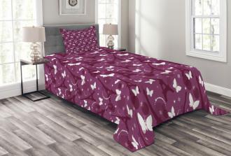 Abstract Butterflies Bedspread Set