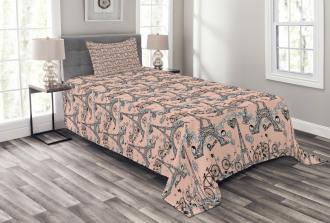 Retro Artistic Landmark Bedspread Set
