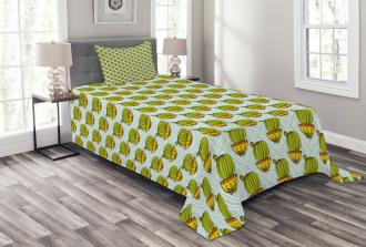 South American Plant Bedspread Set